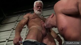 Old Gay Stallion Teaches Young Stud a thing or two – Clay Towers, Jake Marshall