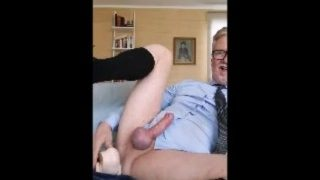 Grandpa Jerks Off And Cums on Cam 10
