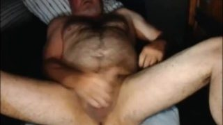 Grandpa Jerks Off And Cums on Cam 2