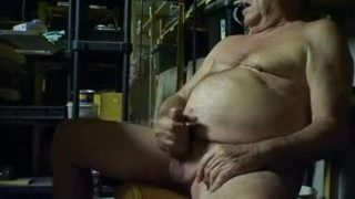 Grandpa Plays With His Cock