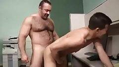 Sugar daddy bear and his lover boy
